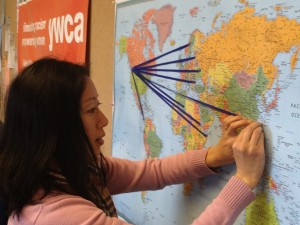 "YWCA Greenbridge asked, ""Where are you from?"" and mapped it out in a creative way."