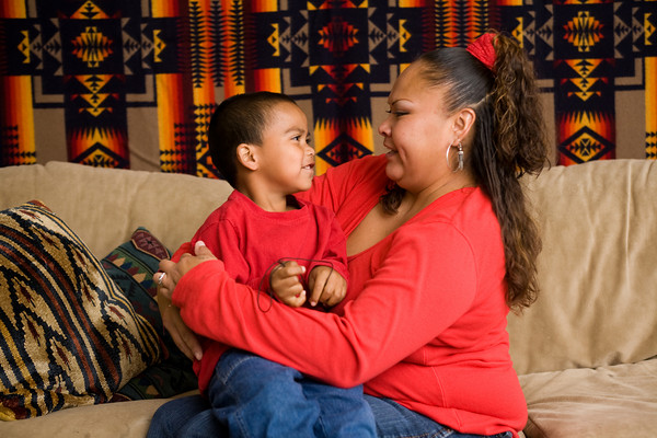 YWCA Seattle | King | Snohomish CEO Sue Sherbrooke's Crosscut.com opinion piece lays out how state budget negotiations will affect families like YWCA client Vangie and her son. Photo credit: YWCA Seattle | King | Snohomish