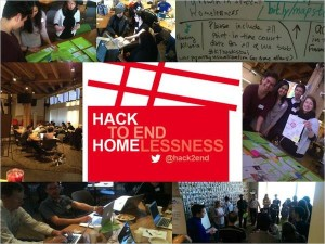 Meg Roberts (@megchirps on Twitter) built this collage featuring scenes from the Hack to End Homelessness.