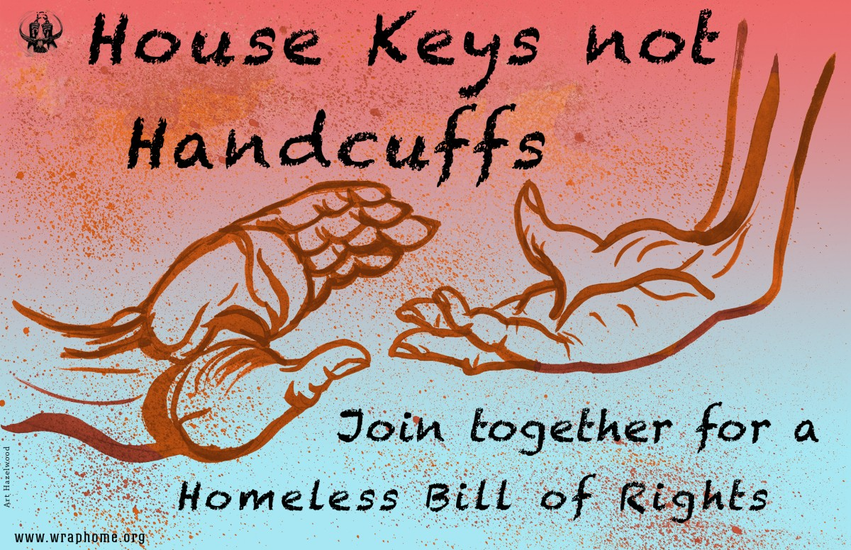 The Western Regional Advocacy Project's multi-state Homeless Bill of Rights campaign aims to guarantee equal protection for people experiencing homelessness and poverty. Image credit: Art Hazelwood via WRAP.