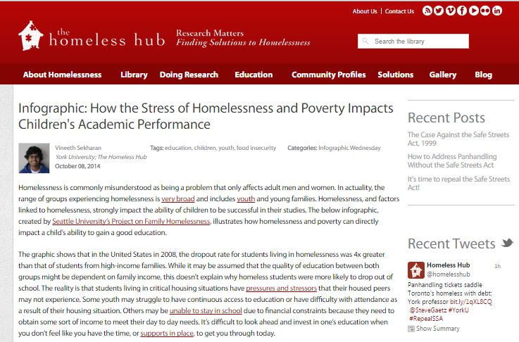 Homeless Hub screenshot