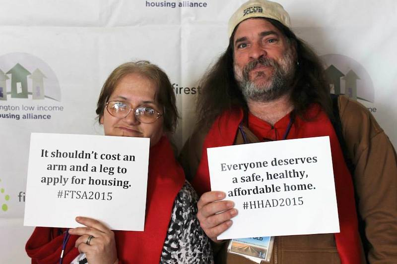 Jon and Kelly from Yakima are graduates of the Washington Low Income Housing Alliance's Emerging Advocates Program.