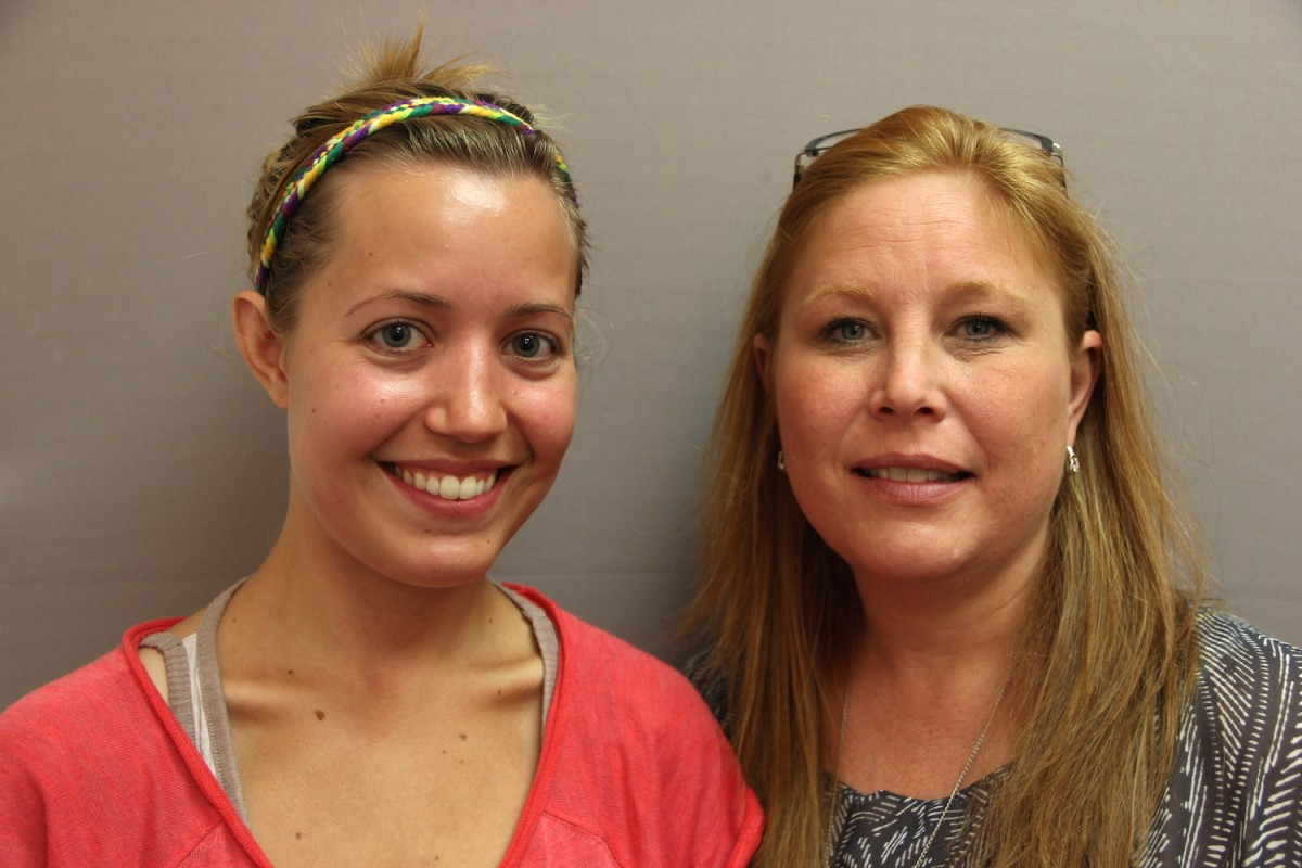 "In the newest StoryCorps ""Finding Our Way"" story, Jordan Hedgecock (left) tells Tanya Mettlen from Catholic Community Services about facing homelessness after leaving an abusive relationship. Image credit: StoryCorps."