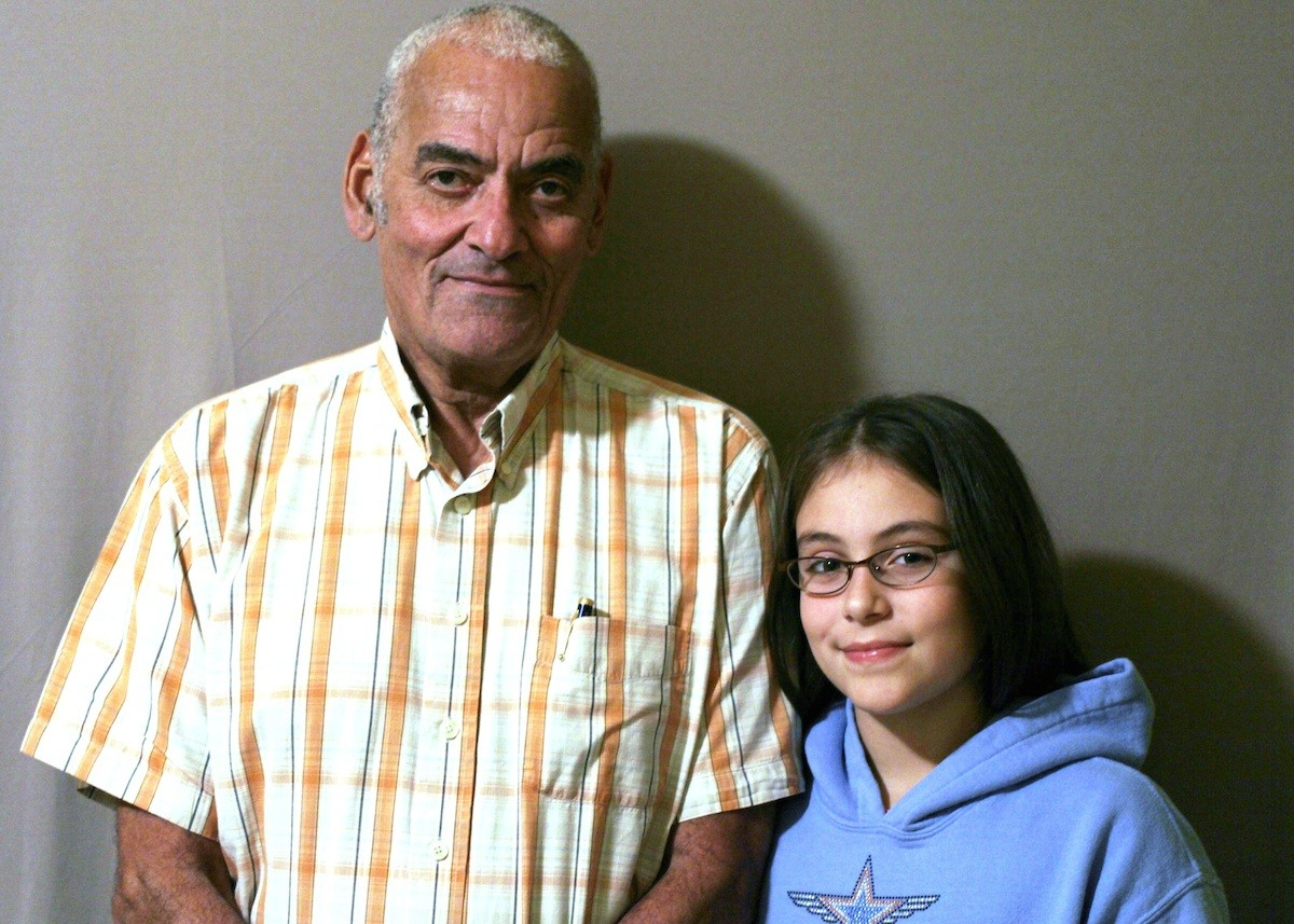 """Up until I was about like 7 I thought that everyone basically had a home and was pretty much safe all the time,"" Thandi tells her grandfather, Desmond, in a StoryCorps interview. ""But then I learned that some people don't really have a home, and it made me want to do something."" Image credit: StoryCorps"