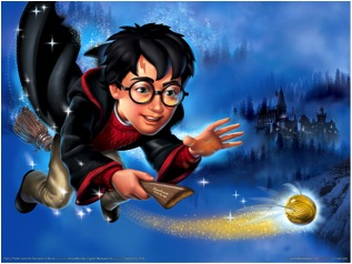 If only Quidditch were real! At least vivid descriptions of flying ensure we can get pretty close to the real thing. Image from fanpop.com.