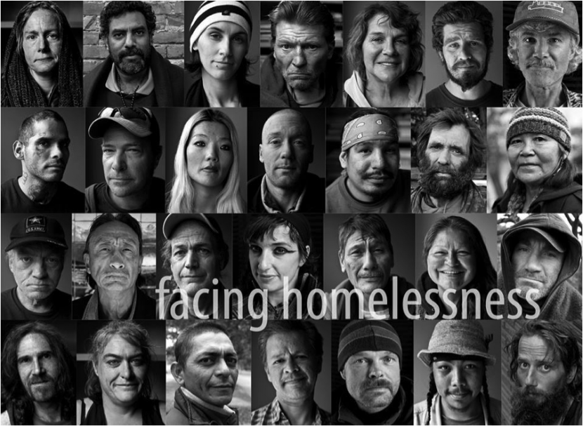 It is hard to deny someone's humanity when you take the time to look them in the eyes. Photos of faces can be an important component of advocacy storytelling. Image from Homeless in Seattle.