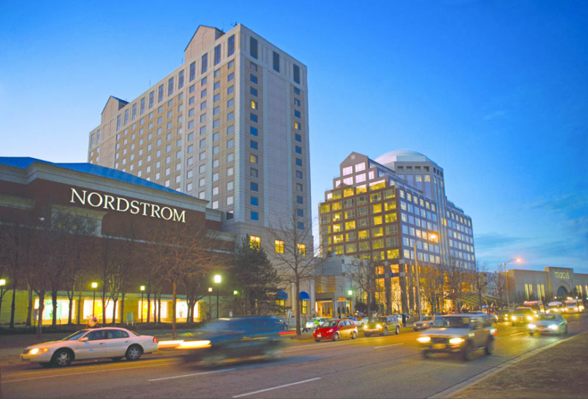 The Nordstrom in Pentagon City, an affluent suburb of the border of D.C. and Virginia, where I worked during my internship and wrestled with the frustration of two worlds colliding. Photo by Simon Property Group.