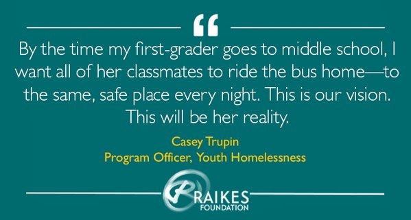 The Raikes Foundation created this image to accompany Casey Trupin's blog post about student homelessness in Washington state.
