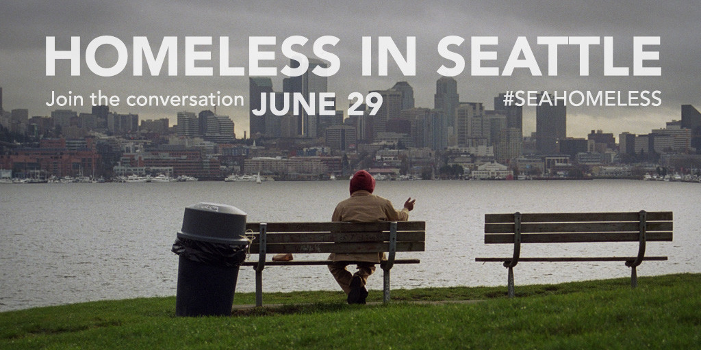 Seattle media outlets will turn their attention to homelessness next Wednesday. Image from Crosscut.